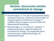 Commitment to change article review