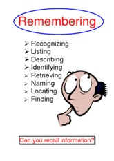 Blooms Taxonomy terms and images