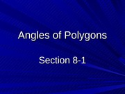 8-1 Angles of Polygons