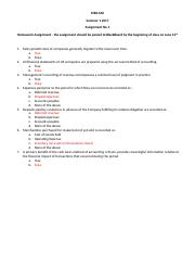 MBA 640 Assignment No 1 - Answer Key