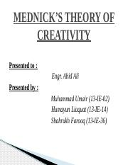 MEDNICK_S THEORY OF CREATIVITY.pptm