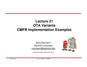 Lecture 21-OTA Variant and CMFB