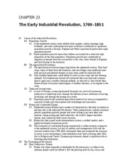 Chapter 23 The Early Industrial Revolution