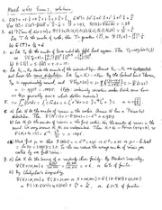 Exam 3 Solution on Probability