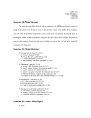 Joshua Worksheet