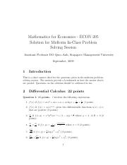 ECON205_Solution_Midterm_Sep_2009