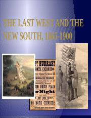 The Last West and the New South,.pptx