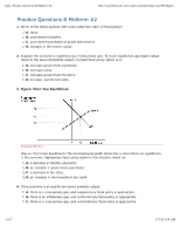 Practice Questions B Midterm #2