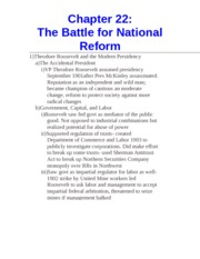 Chapter 22- The Battle for National Reform