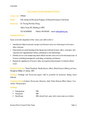 SYLLABUS OF BUSINESS ETHICS_K50