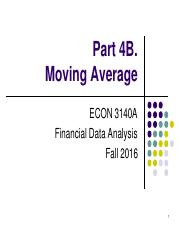 Part 4B. Moving Average