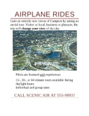 Assignment 4 - Lab 1-1 Airplane Rides Flyer
