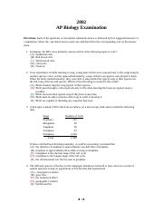 2002 AP Biology Exam