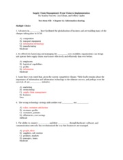 SCM Ch. 12 Test Review with Answers