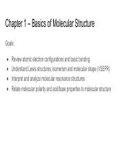 Chapter 1 Basics of Molecular Structure