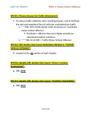 Unit 10 - Topic 2 Motor Vehicle Offenses SPOs.docx