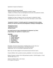 quantitative analysis for bussiness Business managers have found a number of ways to apply quantitative techniques in their companies they use quantitative methods to analyze advertising campaigns, schedule production, decide which projects to invest in and control inventory levels.