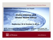 LECTURE 4 - Global Citizens and Global Health Ethics