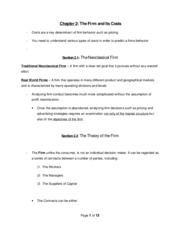 ECN-337 (Industrial Org.) Chapter 2 Notes