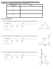 PDF Lesson 6.2 – Using Trig Functions to Find Missing Angles _ Sides.pdf