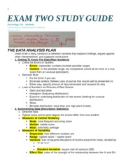 Methods – Exam two guide