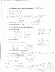 MATH115A Solutions to Practice Quiz 4