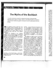 The Myths of the Backlash