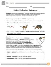 Cladogram Gizmo Worksheet Answer Key - Thekidsworksheet