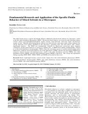 Fundamental Research and Application of the Specific Fluidic Behavior of Mixed Solvents in a Microsp