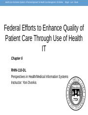 Week_2_Federal_Effords_to_Enhance_Quality_of_Patient_Care_Health_IT