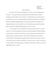 Sample Reaction Essay 4.1