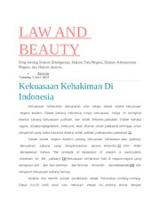 LAW AND BEAUTY