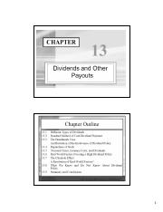 Chapter 13 - Dividends and payout