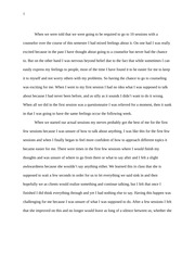 Counseling Sessions Essay