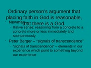 2.2 Arguments for the existence of God