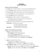 history 110B study guide