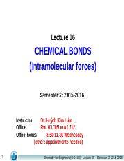 Lecture 06_Chemical Bonds