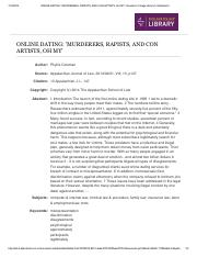 ONLINE DATING_ 'MURDERERS, RAPISTS, AND CON ARTISTS, OH MY.pdf