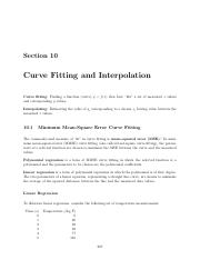 10 Curve Fitting and Interpolation.pdf