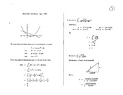 Math 101 Apr 88 Solutions