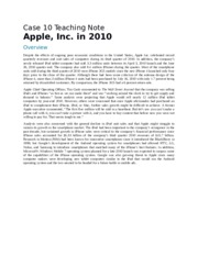 Apple Inc in 2010