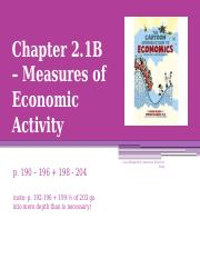 2.1B - Measures of Activity