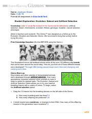 Stephani DeBise - Natural Artificial Selection GIZMO ...