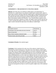 Chem 124 Lab report for Experiment 2