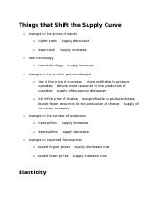 Things that Shift the Supply Curve.docx