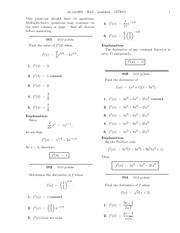 Derivative of constant functions math homework with answers