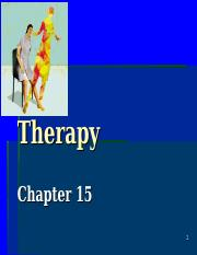 Chapter 15 Psychological Therapies