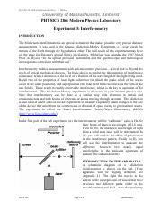 michelson interferometer lab report The findings in this report are not to be construed as an official mirror velocity variations in a continuous mirror drive michelson interferometer result in erroneous interferogram sampling the effects.