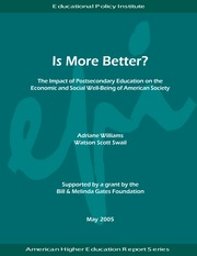 The Impact of Postsec Education on Economic and Social Well-Being in US