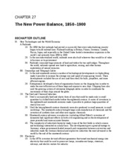 Chapter 27 The New Power Balance
